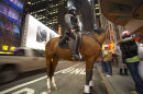 Mounted Policewoman, 42nd street, Broadway, New York.