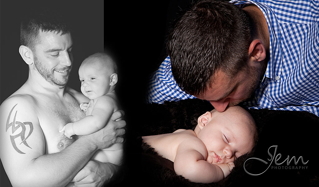 Father and son Studio photo shoot