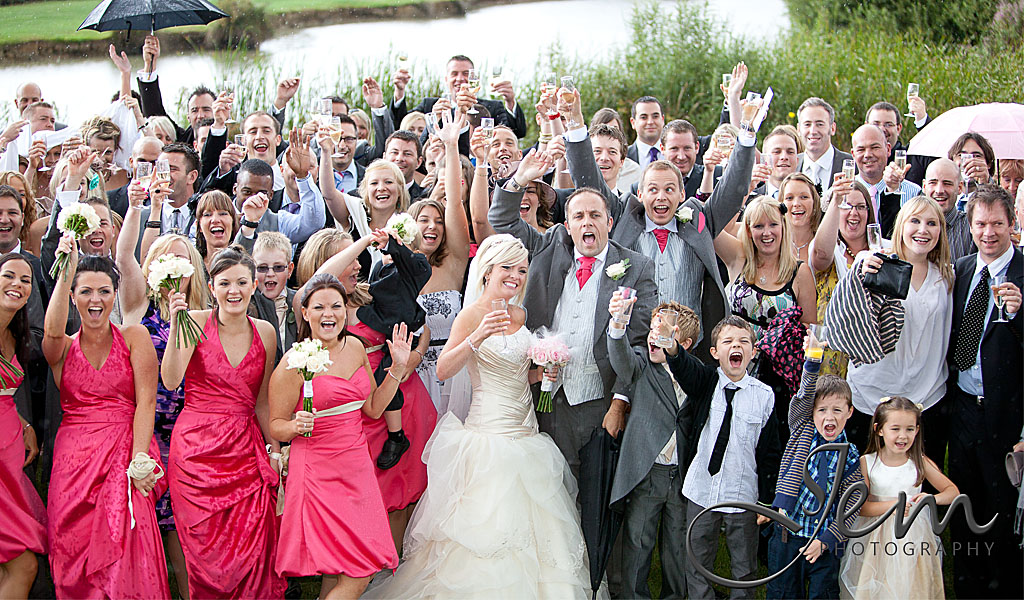 Group Shot wedding Photography Laughton Barns East Sussex