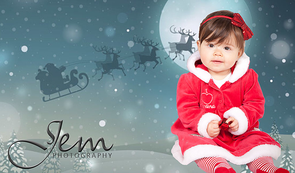 studio christmas photo shoot