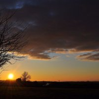 Yellow Sky over Apse Heath