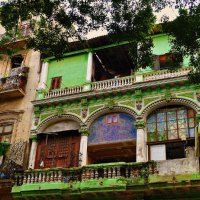 Colourful houses in Havana, Cuba
