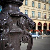 Parisian Lamp Post Lions