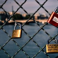 Love Padlocks on the Pont des Arts - Paris, France