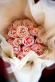 Simple & elegant hand tied, pale pink roses