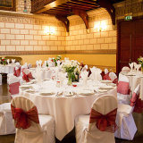 The Great Hall, set-up for a wedding breakfast