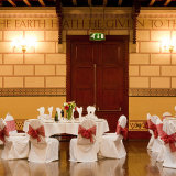 The Great  Hall, wedding breakfast - red