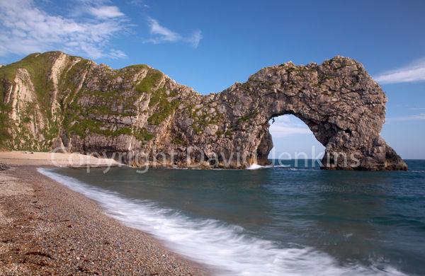 Dangling from Durdle Door, Dorset