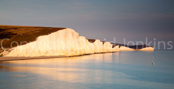Late evening light.  Seven Sisters Cliffs, East Sussex