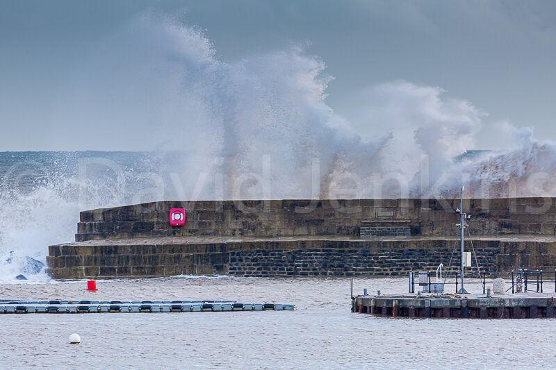 Stormy seas at Lyme.