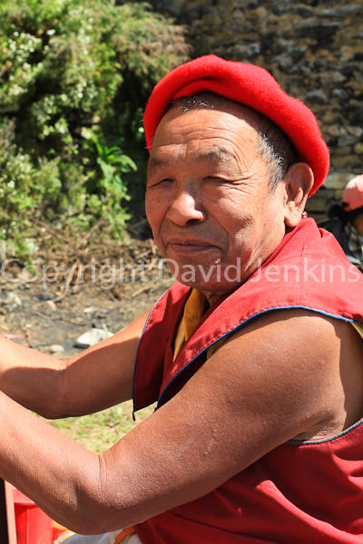 A friendly Bhudist monk