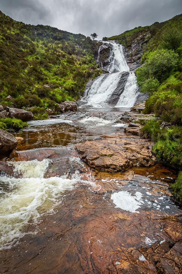 Loch Ainort waterfall.