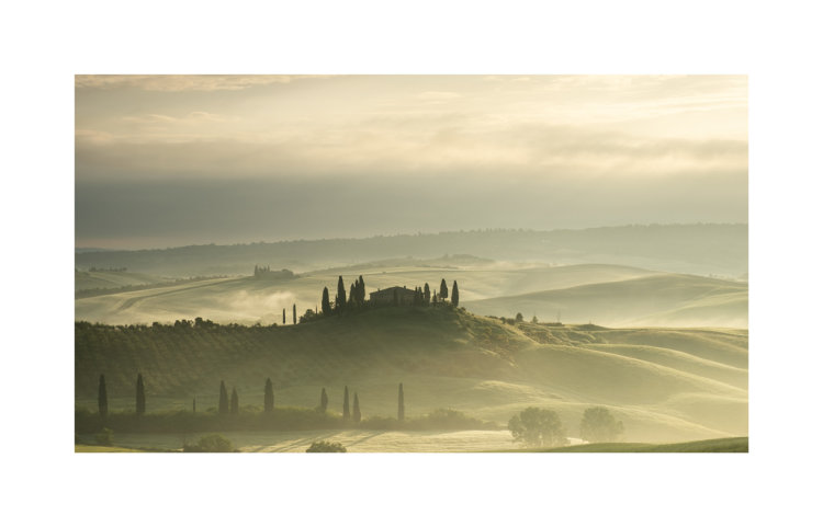 Early morning sunrise over Tuscany