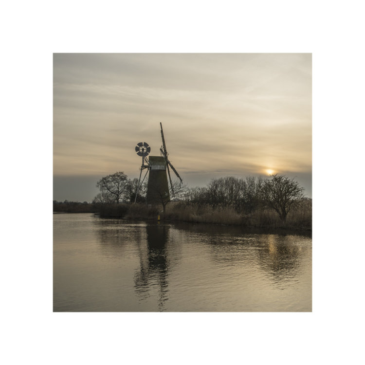 Turf Fen Mill at sunset