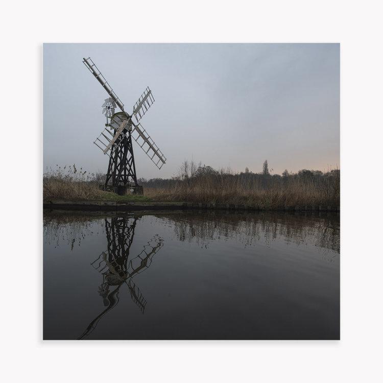 Boardmens Mill at sunset, Norfolk.