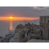Sunset over Oia, Santorini