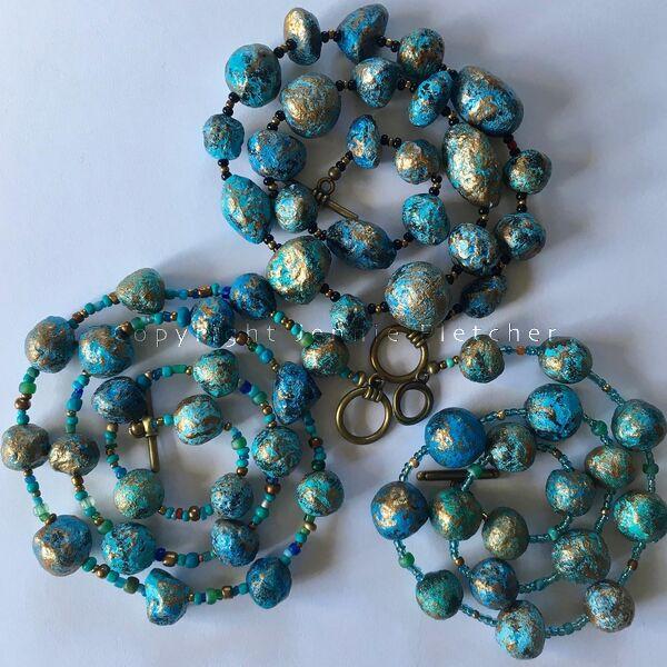 necklaces (blues)