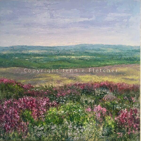 """Across The Moors (toward the sea)"" Original oil painting."
