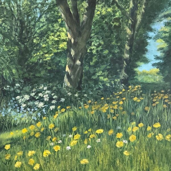 """""""That Lusty Month of May"""" From an original oil painting.."""