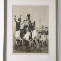 """""""Throw-in, Line-out"""" Framed Giclee Print"""