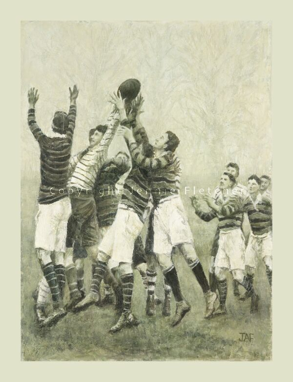 """""""Throw In, Line Out"""" From an original oil painting"""