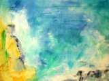 Windblown, Sunlit, Saltladen Air  - mixed media on canvas