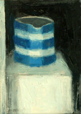 Blue Jug by the Window - oil on gesso panel