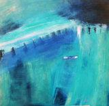 Harbour (blues) - oil on canvas