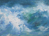 Wave - mixed media on canvas