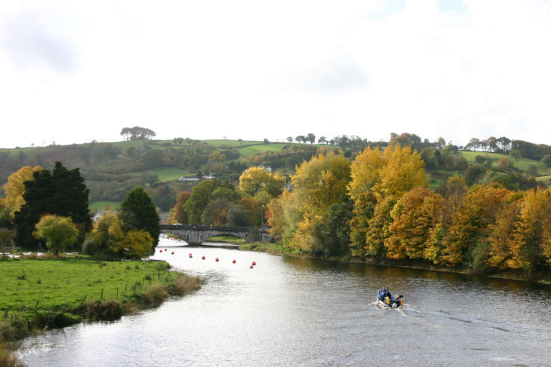 Autumn colours on the river Dart at Totnes