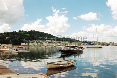 Shaldon Ferry arriving at Back Beach, Teignmouth