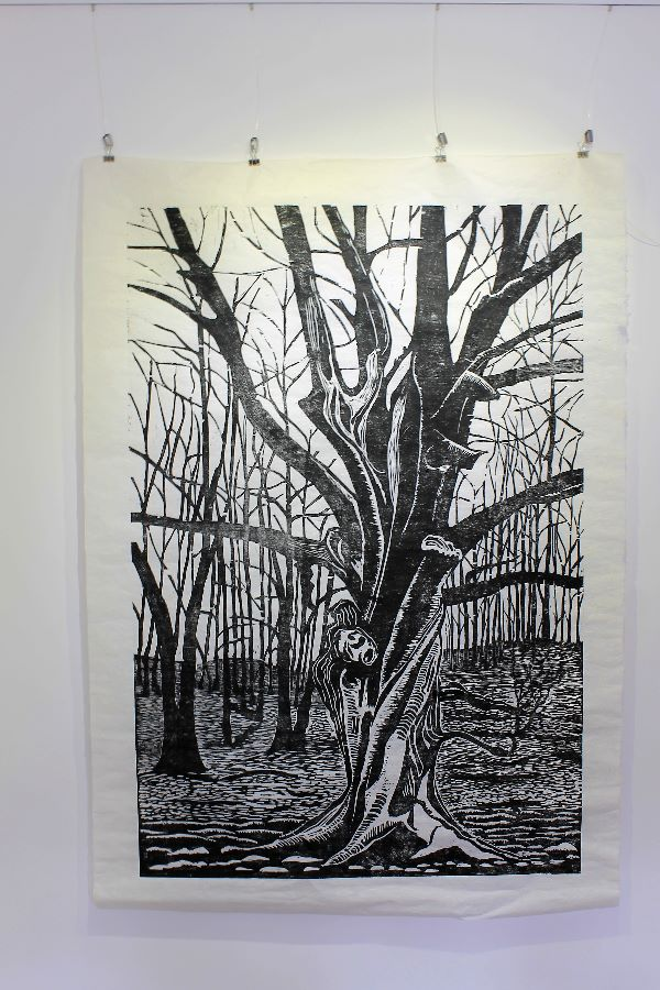 15 Large Twisted Beech woodcut