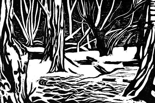 Small Woodcut 29 Copse