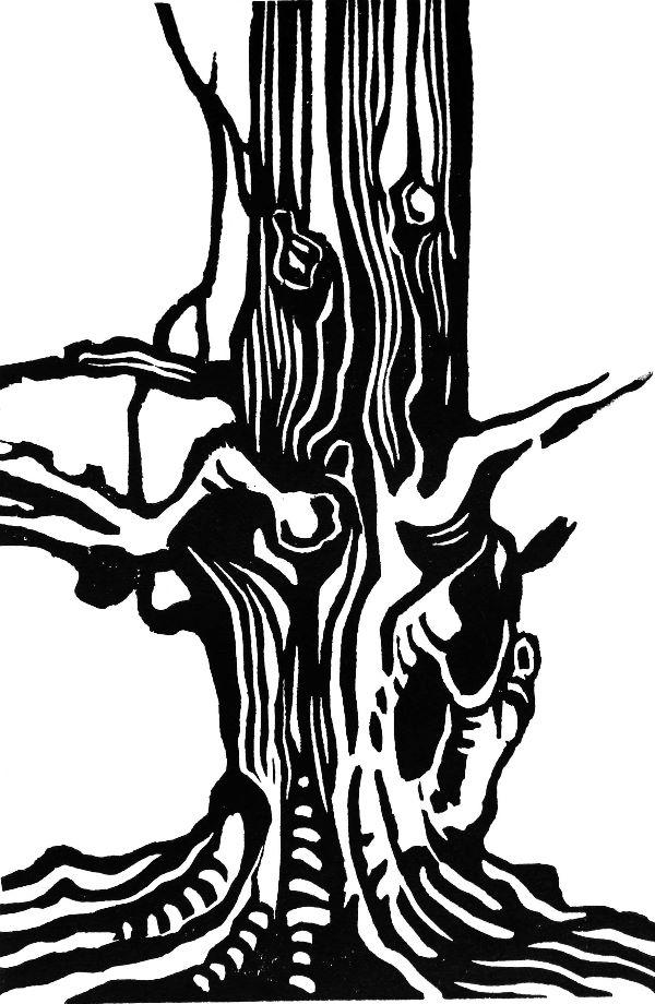 Small woodcut 21 Beech base