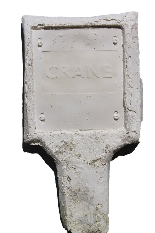 White large file crane