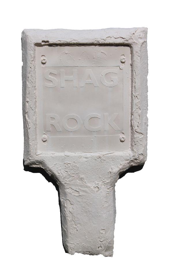 White shag rock