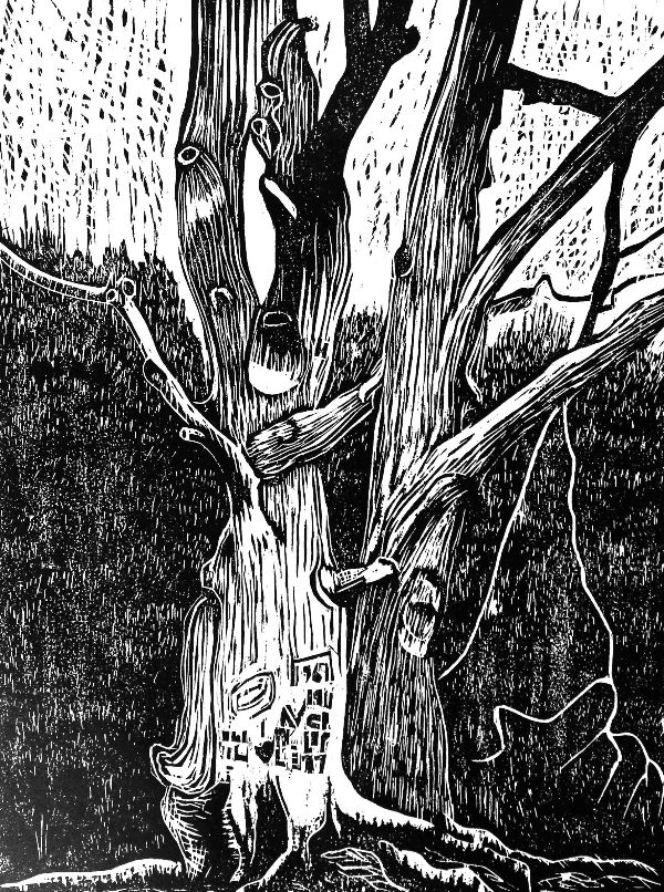 Woodcut 26 Graffiti Trees