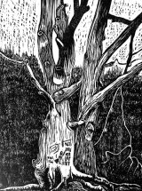 Woodcut 26 Graffiti Trees