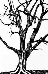 Woodcut 5 Moneybury Oak