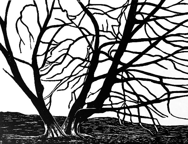 Woodcut 7 Kissing trees