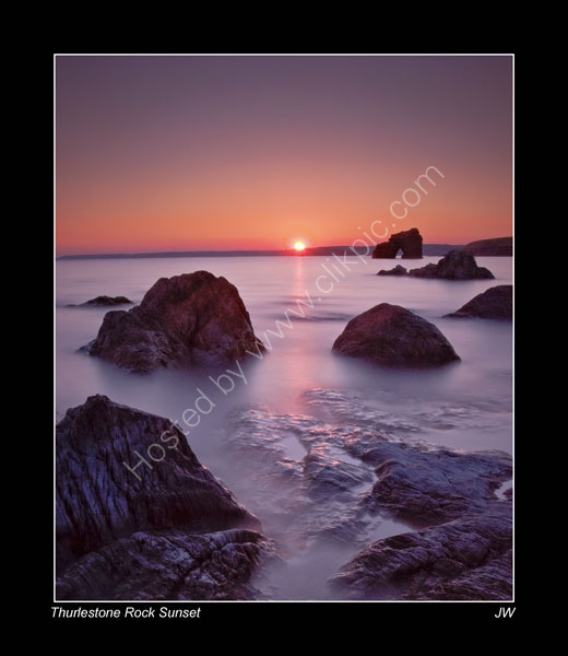 THURLESTONE-ROCK-SUNSET
