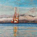 Oil Rigs, Cromarty Firth, towards Nigg, Black Isle, Scotland