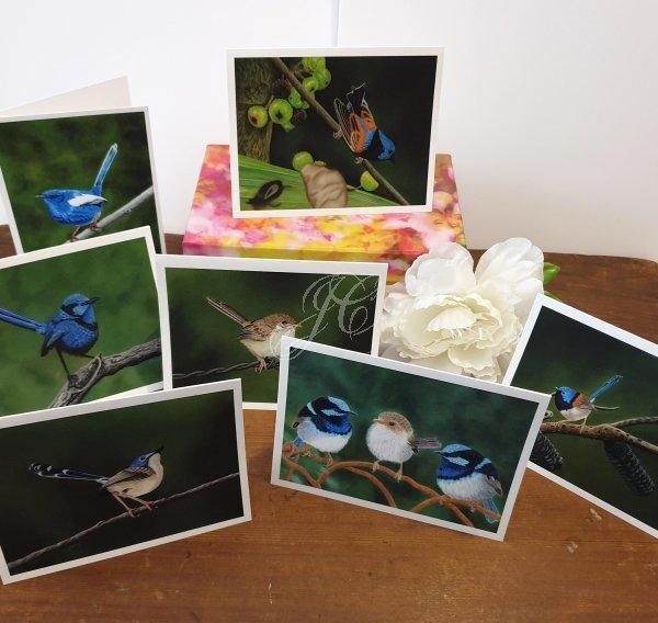 Fairy Wrens of Australia Boxed Set of Artist Cards