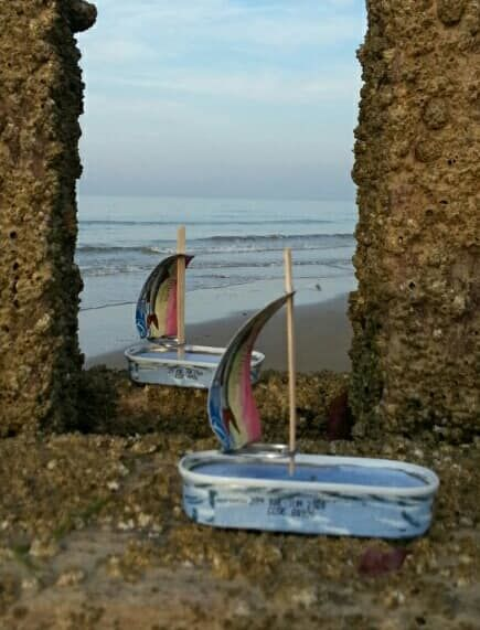 Sardine tin boats