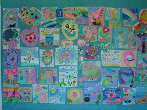 Fakenham Surestart Children's Centre - patchwork wallhanging, 8' x 6'
