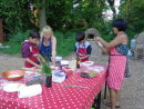 Pizza preparation on site at Holt Hall.