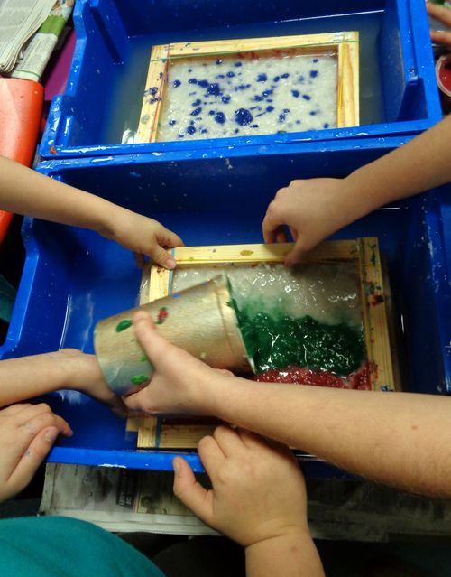 Papermaking at Lyng Primary School