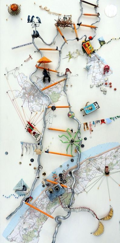 Norfolk: a commission in wire (140 cm x 90 cm)