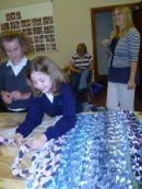 Threading the plaits for the ragrug