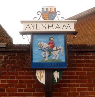 Aylsham Town sign. (2013)